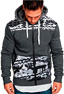 Etecredpow Mens Fleece Warm Slim Coat Big and Tall Jacket Sweatshirts