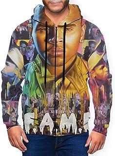 PPneby Chris Brown Fame Men`s Pullover EcoSmart Fleece Hooded Sweatshirt Black