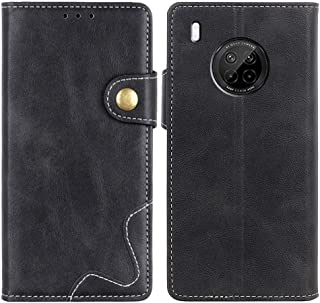 MOONCASE Huawei Y9a Case, Premium PU Leather Cover Wallet Pouch Flip Case Card Slots Magnetic Closure Mobile Phone Protect...
