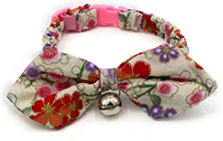 cocopet Luxury Handmade Bling Break Away Safe Pet Cat Dog Bow Tie Collar Necklace Jewelry for Small Cats Pets Female Puppies Chihuahua Girl Costume (XS) (S, Rose)