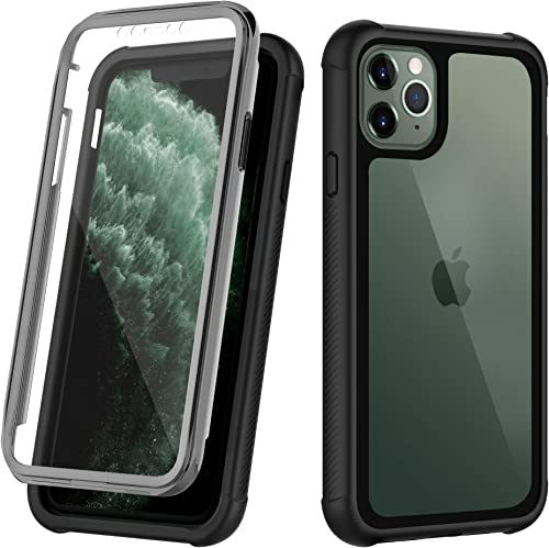 OUNNE iPhone 11 Pro Max Case,Clear Full Body Heavy Duty Protection Case with Built-in Screen Protector Anti-Scratch S...