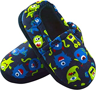 Boys Slippers Warm Comfy for Little Big Kids House...