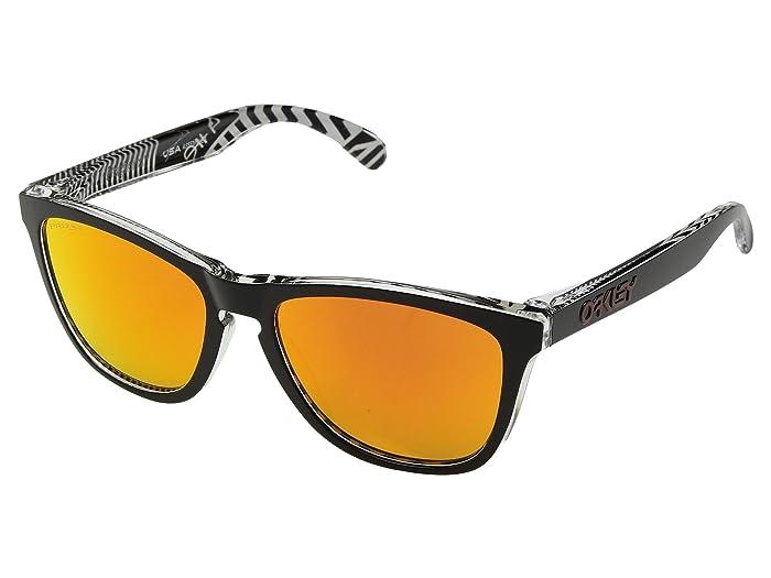 Oakley Frogskins Urban Commuter (IML) (Tokyo Black w/ Prizm Ruby) Athletic Performance Sport Sunglasses