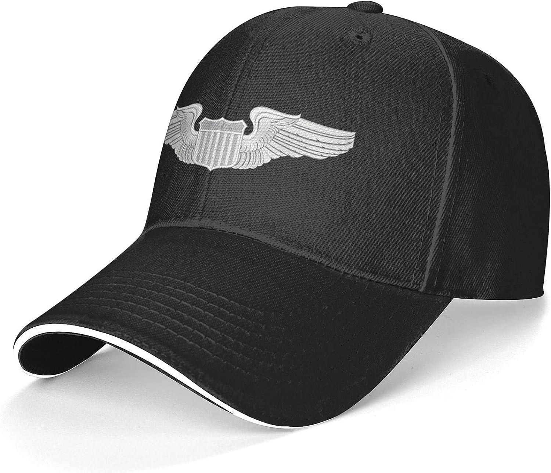 Amry Pilot Wings Decal Unisex Adjustable Sandwich Baseball Cap, Hip Hop Baseball Cap, Dad Cap, Trucker Cap Black