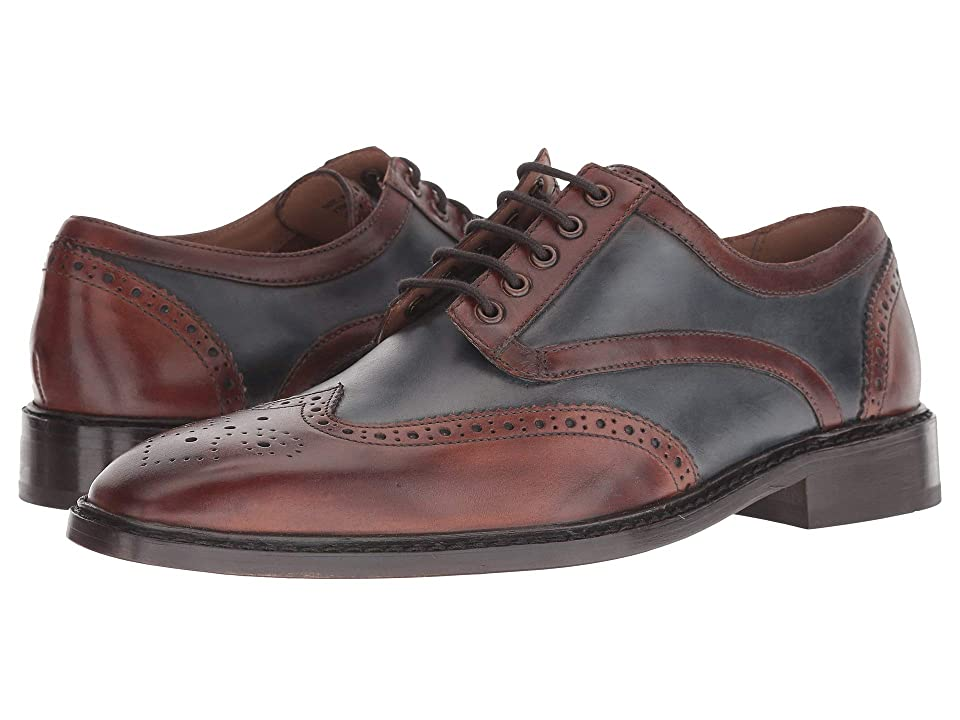 Men's 1950s Shoes Styles- Classics to Saddles to Rockabilly Giorgio Brutini Grayson BrownNavy Mens Shoes $105.00 AT vintagedancer.com