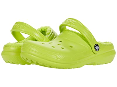 Crocs Kids Classic Lined Clog (Toddler/Little Kid/Big Kid) (Lime Punch) Kids Shoes