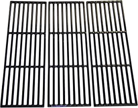 Hongso PCE051 Porcelain Coated Cast Iron Grill Cooking Grates Replacement for Chargriller Gas Grill Models 2121, 2123, 2222, 2828, 3001, 3030, 3725, 4000, 5050, 5252, 5650, Sold as a Set of 3