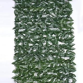 Cerca de jardín de pantalla privada, cerca de hiedra artificial, cerca decorativa anti-ultravioleta (color: verde, tamaño:...