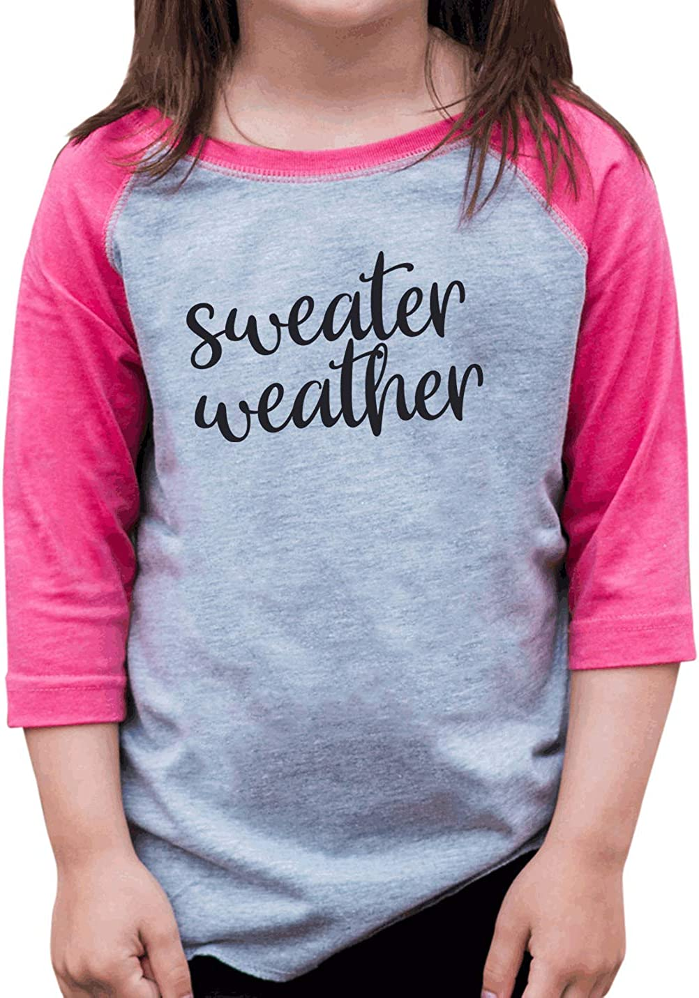7 ate 9 Apparel Girl's Sweater Weather Shirt