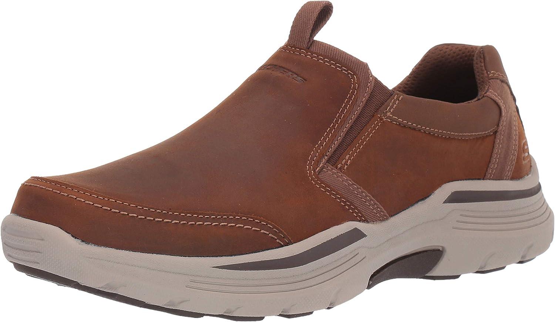 Skechers Men's Expended-morgo Leather Slip on Moccasin