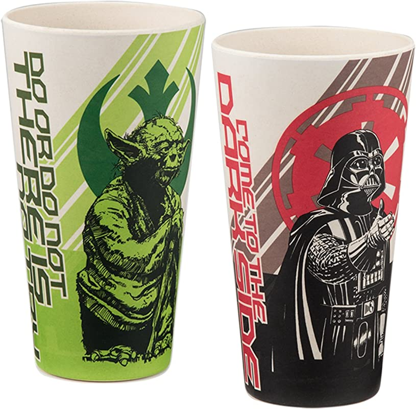 Vandor 99105 Star Wars 24 Ounce Bamboo Tumblers 2 Piece Set Multicolored