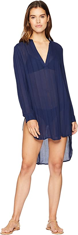 e63a6c20bb9 Body Glove Brynn 3/4 Sleeve Tunic Cover-Up at Zappos.com