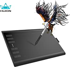 Huion H1060P Android Supported Drawing Tablet Battery Free Digital Graphics Pen Tablet with 8192 Levels Pressure Sensitivity Tilt Function 12 Express Keys, 10x6.25inch