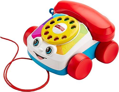 Fisher-Price Mon Téléphone mobile jouet bébé, cadran factice rotatif, pour apprendre les chiffres et les couleurs, 12...