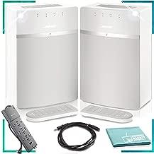 Bose SoundTouch 10 Wireless Music System (White) x2 Surround Sound Bundle