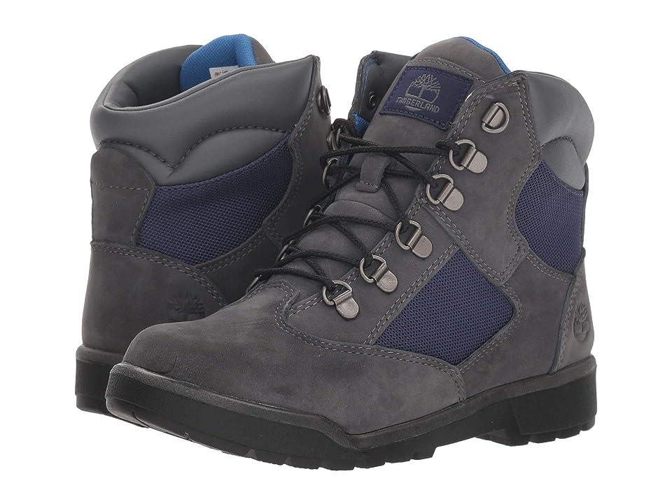 Timberland Kids 6 Fabric/Leather Field Boot (Big Kid) (Dark Cement) Kids Shoes