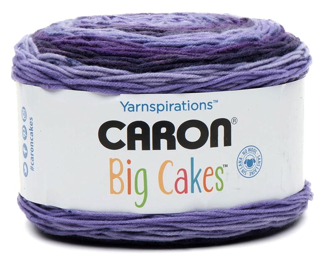 Caron Big Cakes Self Striping Yarn ~ 603 yd/551 m/10.5oz/300 g Each (Grape Jelly)
