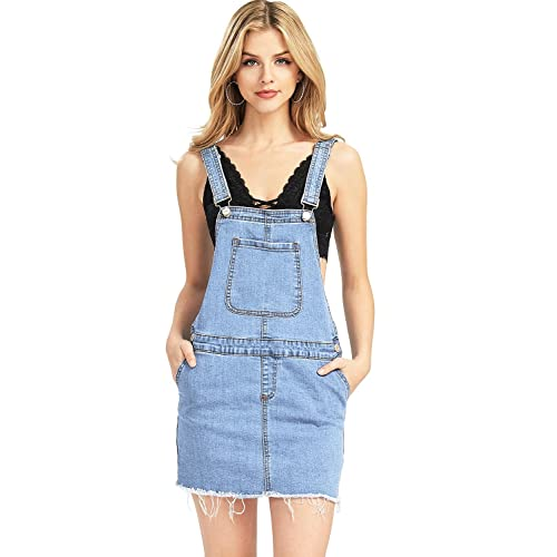 8c158bcb40a I   M Women s Juniors Denim Overalls Dress w ...