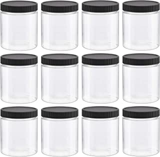 12 PCS 8 Oz Clear Empty Slime Storage Containers, Slime Jars with Lids - BPA Free
