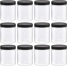 12 PCS 8 Oz Clear Empty Slime Storage Containers, Slime Jars with Lids and Labels - BPA Free
