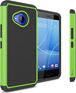 CoverON Heavy Duty Hybrid HexaGuard Series for HTC U11 Life Case, Green on Black