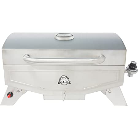 Pit Boss Grills PB100P1 Pit Stop Single-Burner Portable Tabletop Grill , Grey