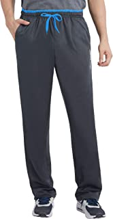 Duuluup Men's Sweatpants Open Bottom Workout Pants Lightweight Athletic Gym Running Track Pants with Pockets
