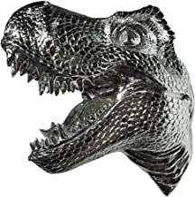 LUCKFY Snarling Huge Tyrannosaurus Rex - T-Rex Head Wall Hanging Figurine - Wall Mounted 15 Inch Dinosaur Head Sculpture -...