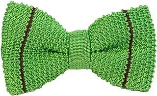 40 Colori - Papillon a maglia con riga sottile in pura seta