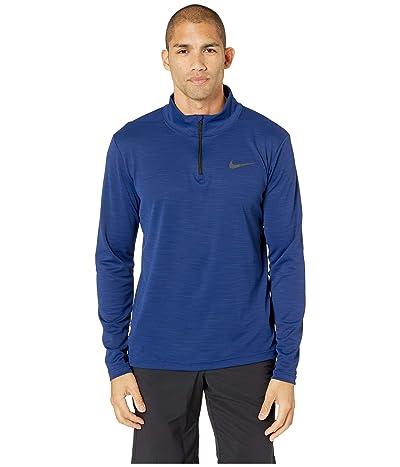 Nike Superset Top Long Sleeve 1/4 Zip (Blue Void/Black) Men