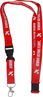 Flight Safety Lanyard - Remove Before Flight Keychain Lanyard Airplane – Red with White Lettering – Use as Keyring – Great for ID Badges