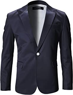 Mens Slim Fit Stylish Peaked Lapel Blazer Jacket