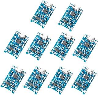 MUZOCT 10pcs 1A 5V Micro USB 18650 Cargador de Energía de la Batería TP4056 Junta Módulo TE420