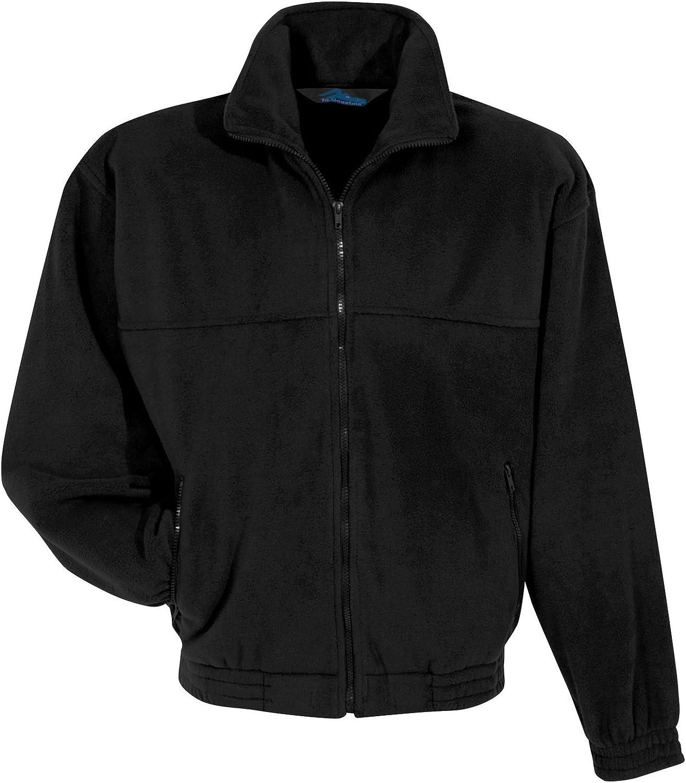 Tri-Mountain Fleece 7600 Tundra 10.5 oz. Heavyweight 100% Spun Polyester Black