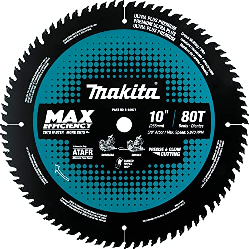 """discount Makita popular B-66977 10"""" 80T wholesale Carbide-Tipped Max Efficiency Miter Saw Blade online sale"""