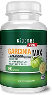 Garcinia Cambogia 100% Pure Extract with 100% Moneyback Guarantee - 60 Count - 1000mg