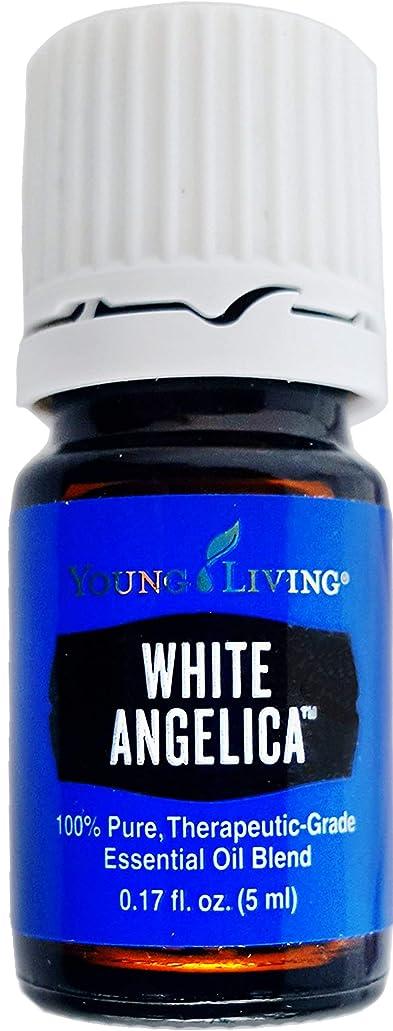 リングバックフィクション返済Young Living ホワイトアンジェリカ5ミリリットルエッセンシャルオイルエッセンシャルオイル