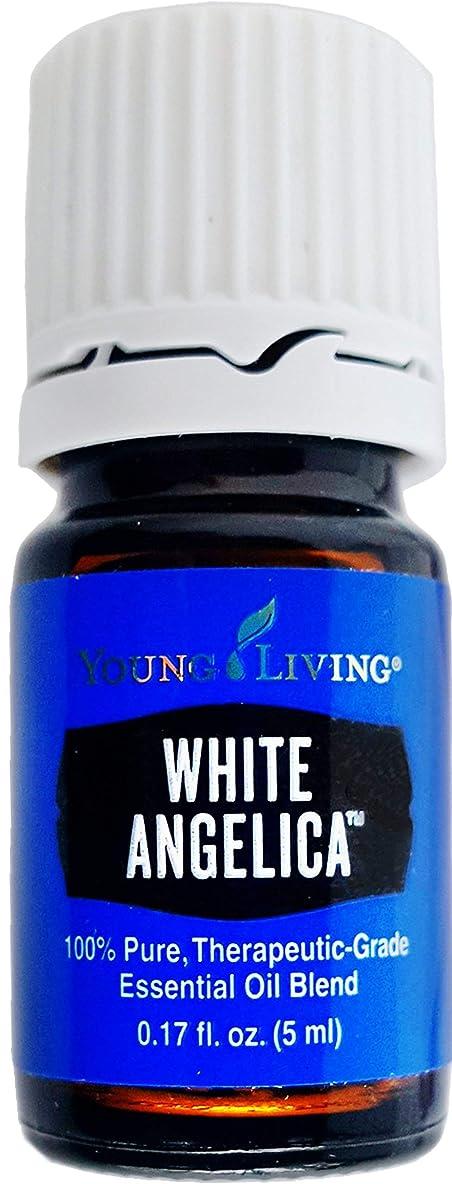 スピリチュアルケーキ苦痛Young Living ホワイトアンジェリカ5ミリリットルエッセンシャルオイルエッセンシャルオイル