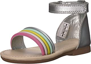 Carter's Baby-Girl's Gene Fashion Sandal, Silver, 7 M US Toddler