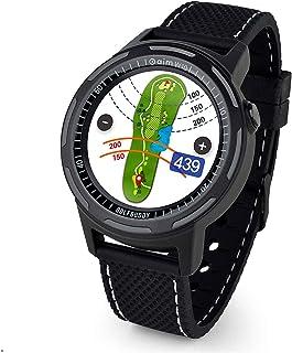 Golf Buddy Aim W10 GPS Watch aim W10 Golf GPS Watch with Red/White/Blue Wristband, Black, Medium