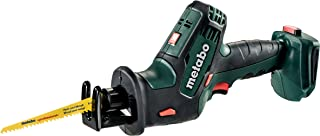 metabo 602266840 SSE 18 LTX Compact Reciprocating/Sabre Saw 18V in Metaloc Case-Body Only, 18 V, Colour, Size