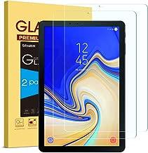 SPARIN [2 Stück Panzerglas Schutzfolie für Samsung Galaxy Tab S4, mit [9H Härte] [Anti-Kratzen] [Blasenfrei] [2.5D Rand] [HD Klar] für Samsung Tab S4 T830/T835 10.5 Zoll 2018
