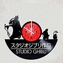 GHIBLI STUDIO VINYL RECORD WALL CLOCK - Good gift for fan animation films - Japanese anime best GHIBLI STUDIO - merchandise gifts for children bedroom decoration
