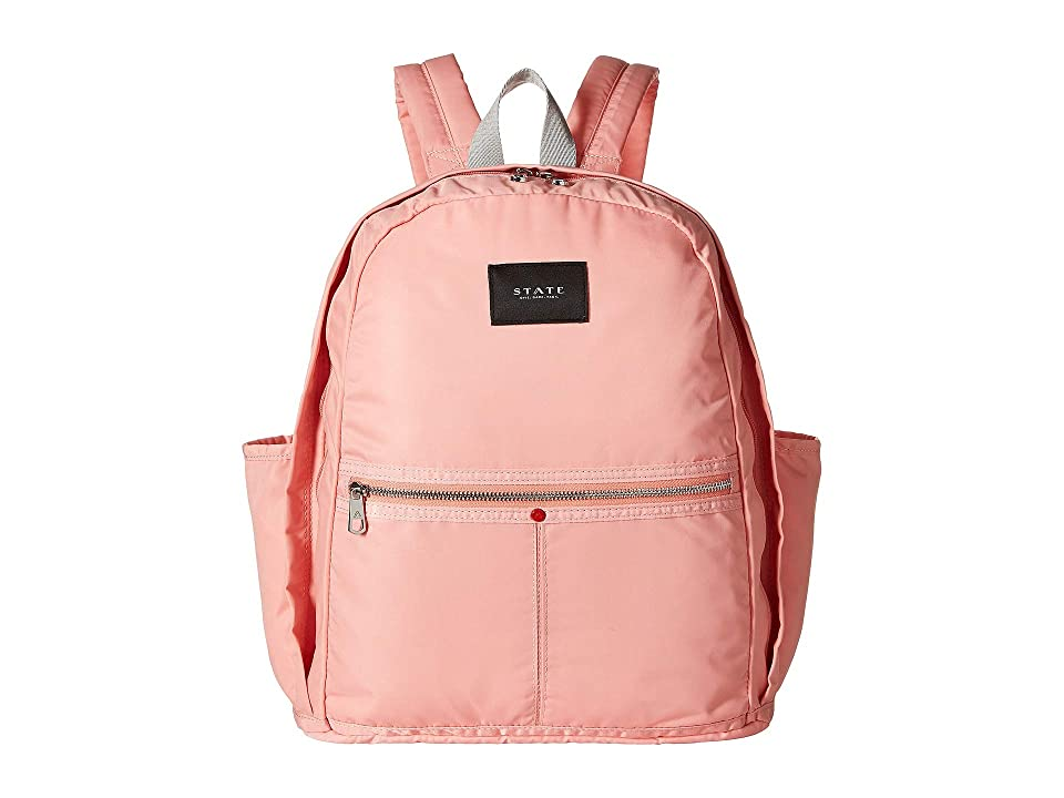 STATE Bags Nylon Kent Backpack (Coral/Almond) Backpack Bags