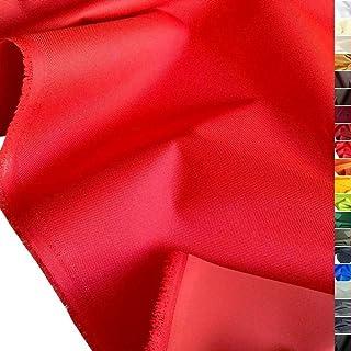 TOLKO wasserfester beschichteter Nylon Stoff | fester Segeltuch Planenstoff als Nylonplane für Aussenbereich | Reißfest und Langlebig | Meterware 150cm breit schwerer Outdoorstoff Rot