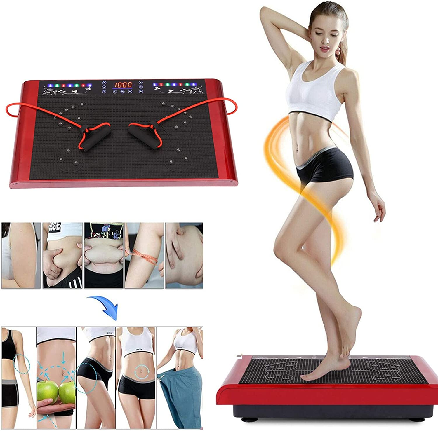 price Qianglin Music Fitness Vibration Machine Gym Work Full Body Max 70% OFF Home