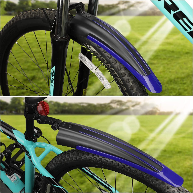 Guardabarros Ajustable port/átil para Bicicleta de monta/ña y Carretera TAGVO Guardabarros Bicicleta 2-Piezas Universal Cubierta Completa Espesa Widen Guardabarros Delantero y Trasero de Bicicleta