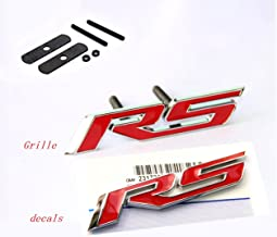 Yoaoo 1x OEM Grille Rs With Decal Rs Emblem Badge 3D Logo Allloy for Camaro Gm Series Red