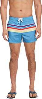 Men's Printed Fixed Waist Box Swim Short