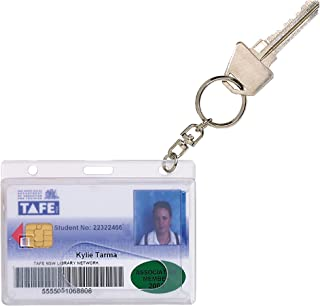REXEL(R) 9801912 Id Fuel Rigid Card Holder with Key Ring 10Pk